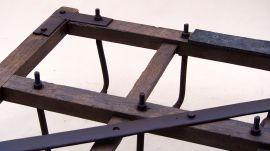 Brona konna drewniana (krzywa brona, haczka)